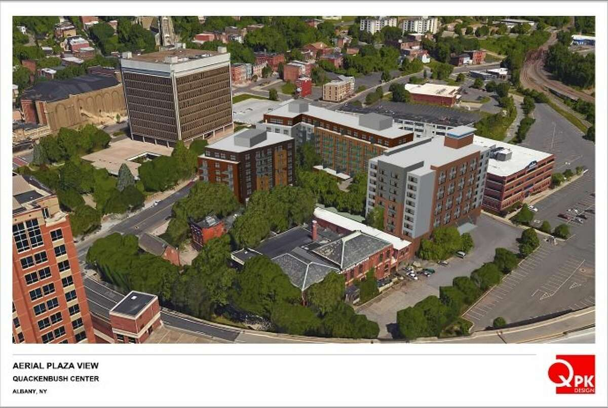Renderings of a proposed project at 705 Broadway in Albany submitted to the Albany Planning Board in 2017 by Pioneer Companies