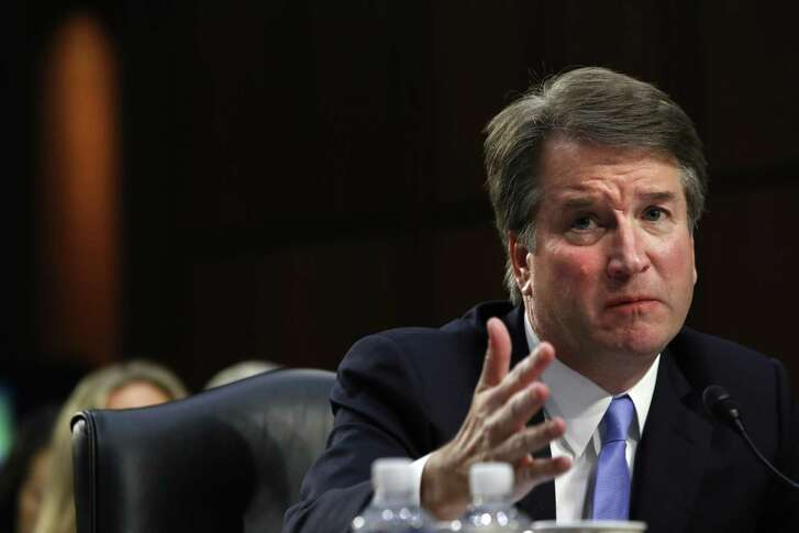 Supreme Court nominee Brett Kavanaugh answers a question about guns from Sen. Richard Blumenthal, D-Conn., during a third round of questioning on the third day of his Senate Judiciary Committee confirmation hearing, Thursday, Sept. 6, 2018.