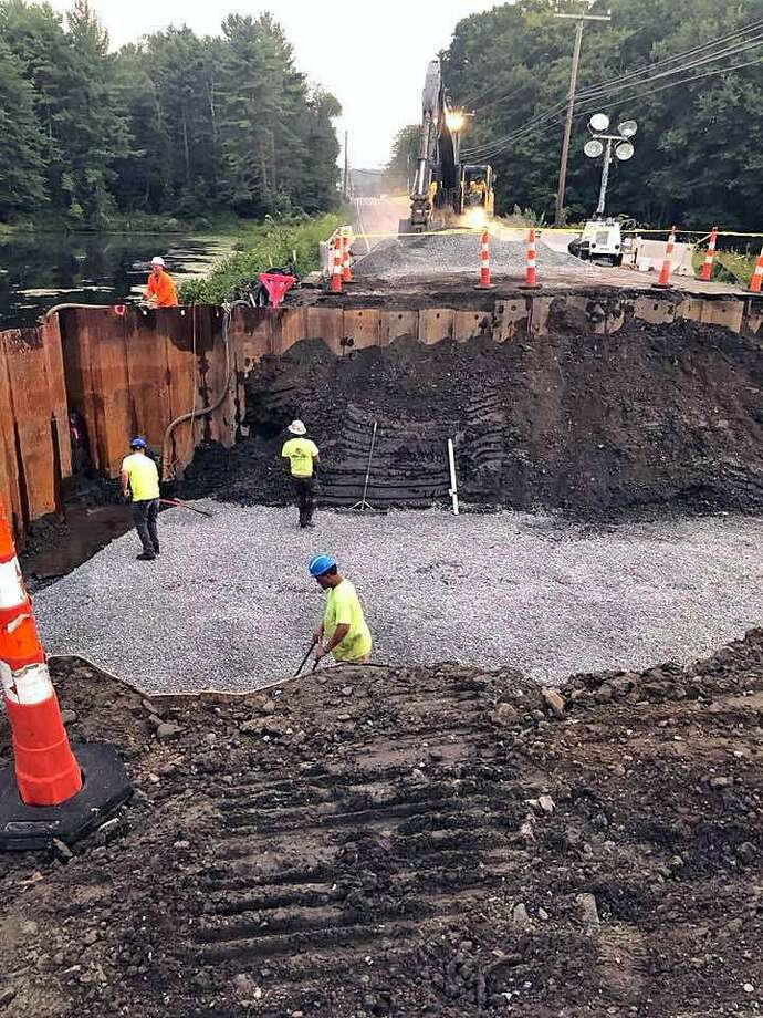 The construction project on Route 25 in Monroe, Conn., on Aug. 25, 2018. Photo: Contributed Photo / Monroe Police Department / Connecticut Post Contributed