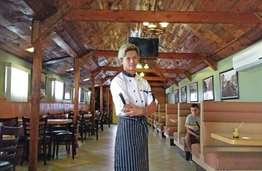 Owner and chef Tony Hang in the dining room Mama Pho. Photo: NF Ambery