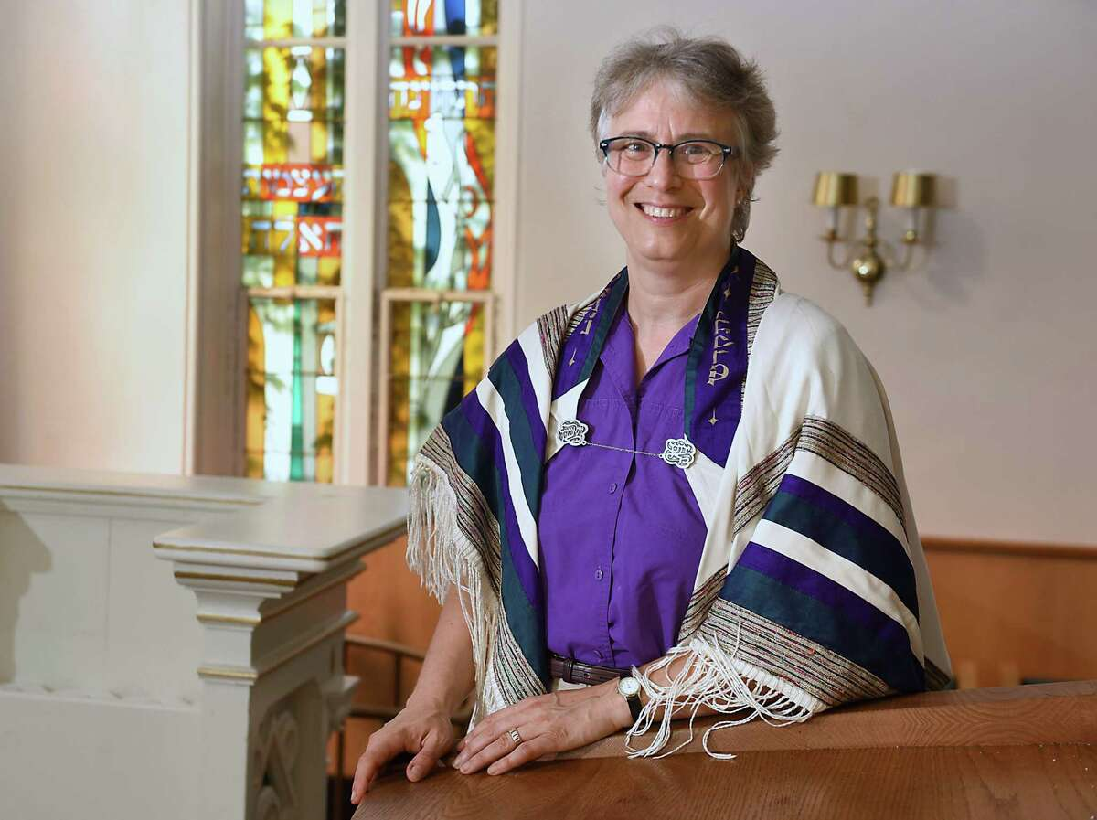 Rabbi Debora S. Gordon stands in the sanctuary at Congregation Berith Sholom in Troy, N.Y. on Tuesday, Sept. 4, 2018 in Troy, N.Y. (Lori Van Buren/Times Union)