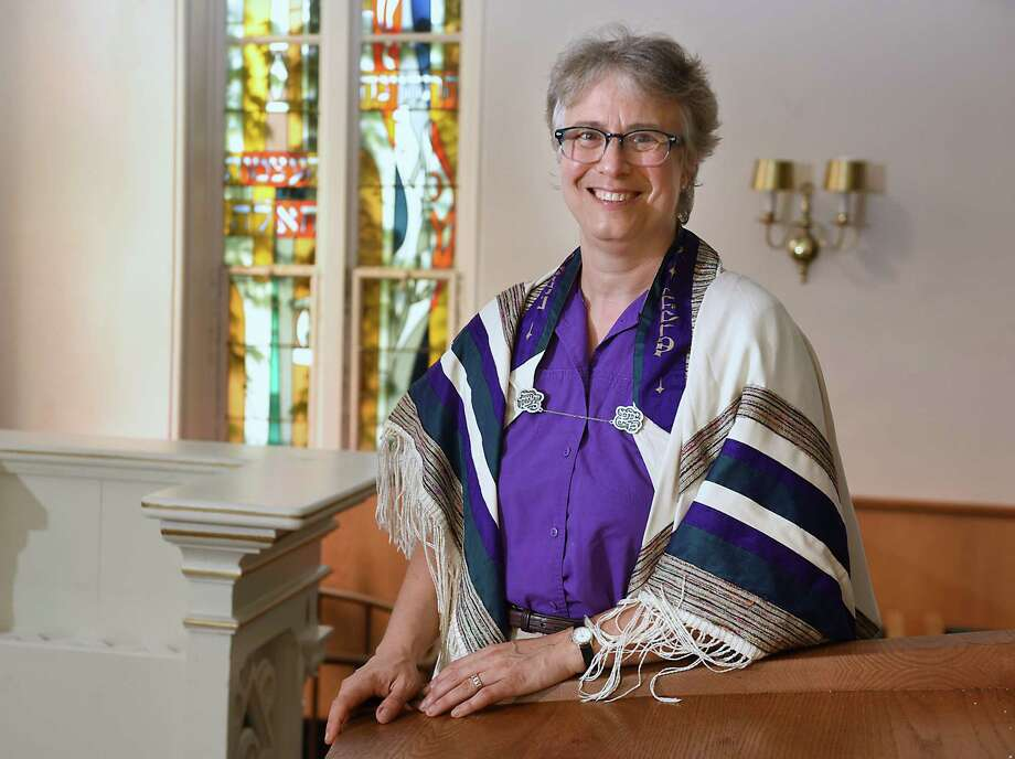 Rabbi Debora S. Gordon stands in the sanctuary at Congregation Berith Sholom in Troy, N.Y. on Tuesday, Sept. 4, 2018 in Troy, N.Y. (Lori Van Buren/Times Union) Photo: Lori Van Buren / 20044719A