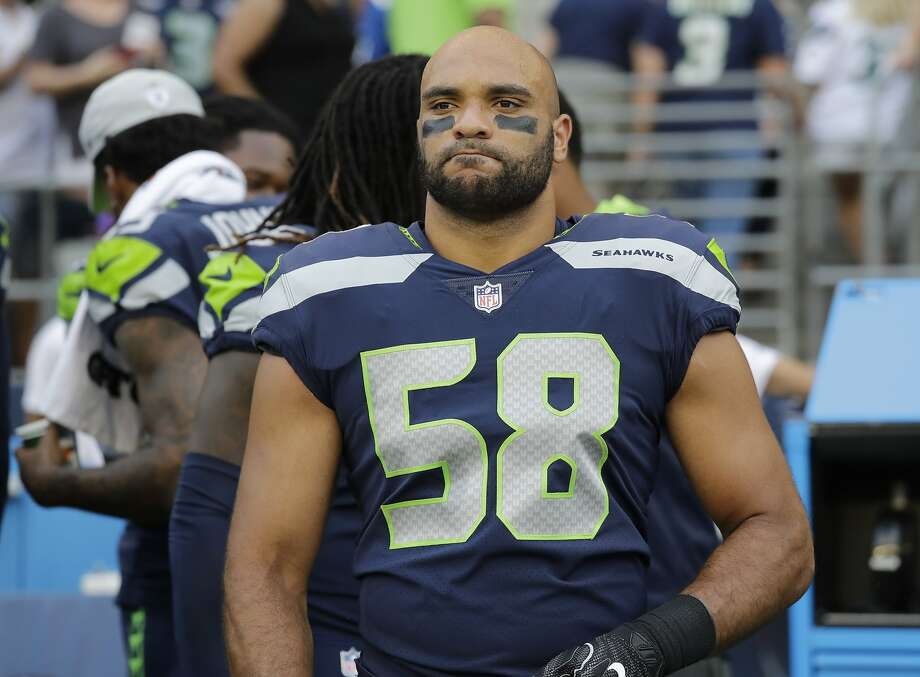Seattle Seahawks linebacker Austin Calitro stands on the field before an NFL football preseason game against the Indianapolis Colts, Thursday, Aug. 9, 2018, in Seattle. (AP Photo/Elaine Thompson) Photo: Elaine Thompson, Associated Press