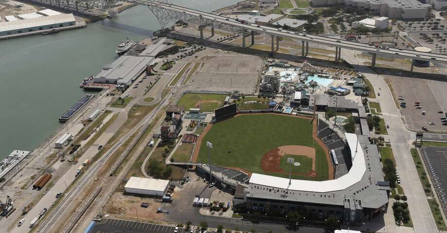 The grass of Whataburger Field adds color to the landscape in Corpus Christi, Texas, Tuesday, Aug. 8, 2017. Whataburger Field is home to the Houston Astros affiliated Double A team, the Corpus Christi Hooks. Photo: JERRY LARA/San Antonio Express-News