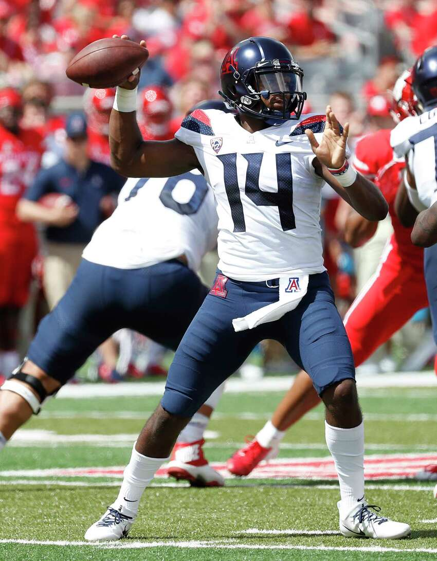 7. University of Arizona Wildcats These are really nice - especially the helmets. It's a shame that they've abandoned the gradient numbers from a few years back, particularly on such a simple uniform. Still, there's not much to gripe about here.