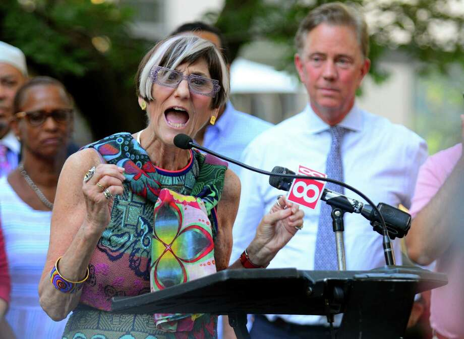 US Congresswomam Rosa DeLauro addresses the crowd gathered for a unity rally at Wooster Square Park in New Haven in August. DeLauro has not had a primary challenge in a decade, even though 2018 has spurred record numbers of newcomers to run for office and often challenge incumbents. Photo: Christian Abraham / Hearst Connecticut Media / Connecticut Post