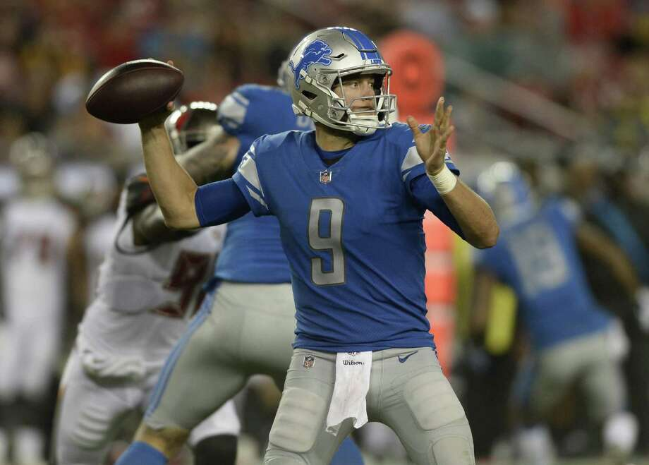 The Register's Dan Nowak like Matthew Stafford and the Detroit Lions to take care of business against the Jets in week one of the NFL season. Photo: Jason Behnken / Associated Press / Copyright 2018 The Associated Press. All rights reserved.