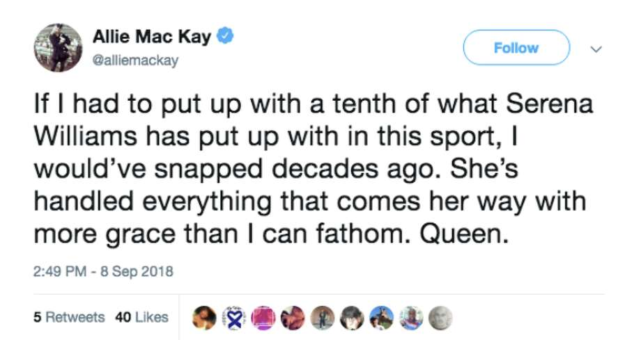 Fans and onlookers took to Twitter to celebrate Naomi Osaka's win at the US Open, but also to criticize the actions of the referee. Photo: Screenshot Via Twitter