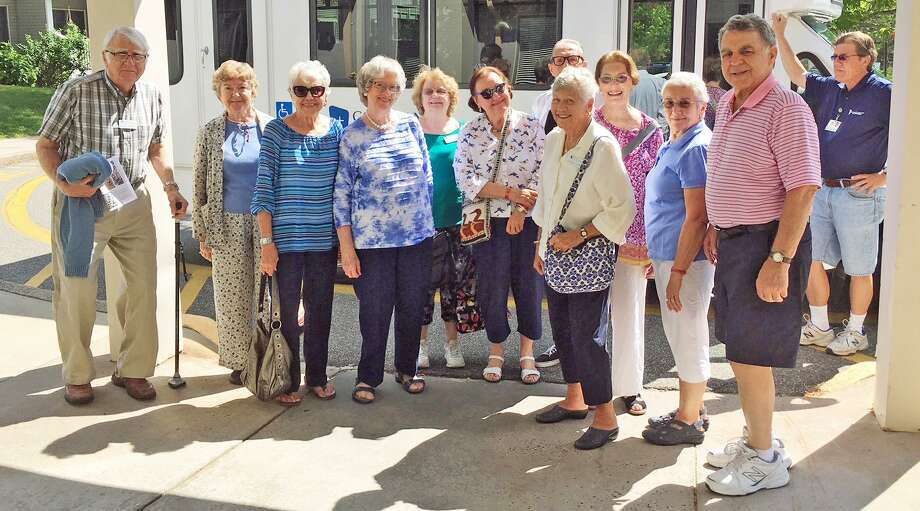 Residents at Covenant Village of Cromwell took part in a Tour du Jour lunch outing Aug. 30. Photo: Contributed Photo