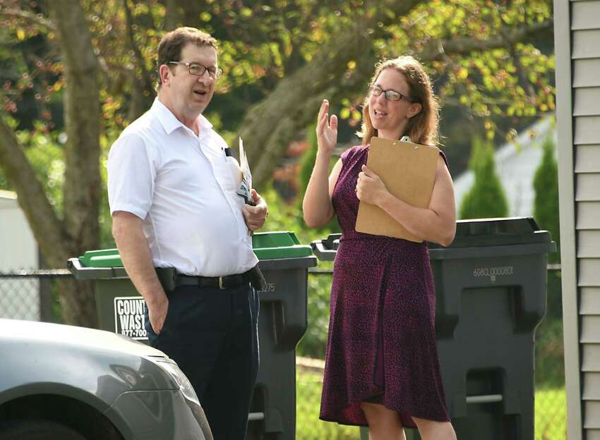 Democratic voters in the 107th Assembly District appeared to choose New Lebanon Town Clerk Tistrya Houghtling (right) on Thursday to take on incumbent Republican Jake Ashby in November.(Lori Van Buren/Times Union)