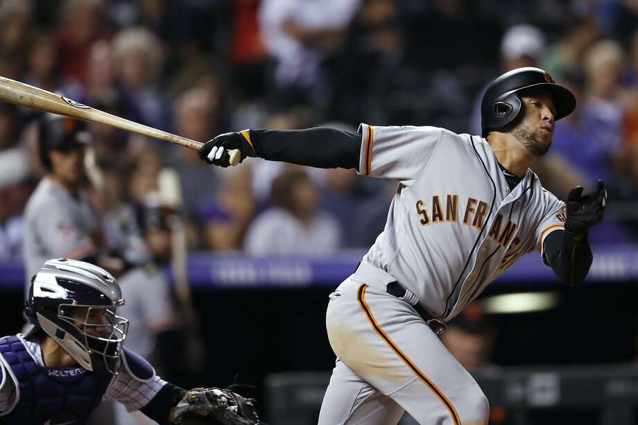 Gregor Blanco strikes out in Colorado on Tuesday. Photo: David Zalubowski / Associated Press