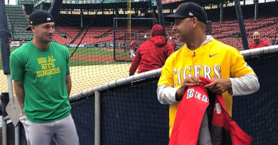 PHOTOS: Astros game-by-game Astros third baseman Alex Bregman talks to Red Sox manager Alex Cora, who is donning an LSU Tigers jersey as a result of a bet wagered between the two. Browse through the photos to see how the Astros have fared in each game this season. Photo: Chandler Rome