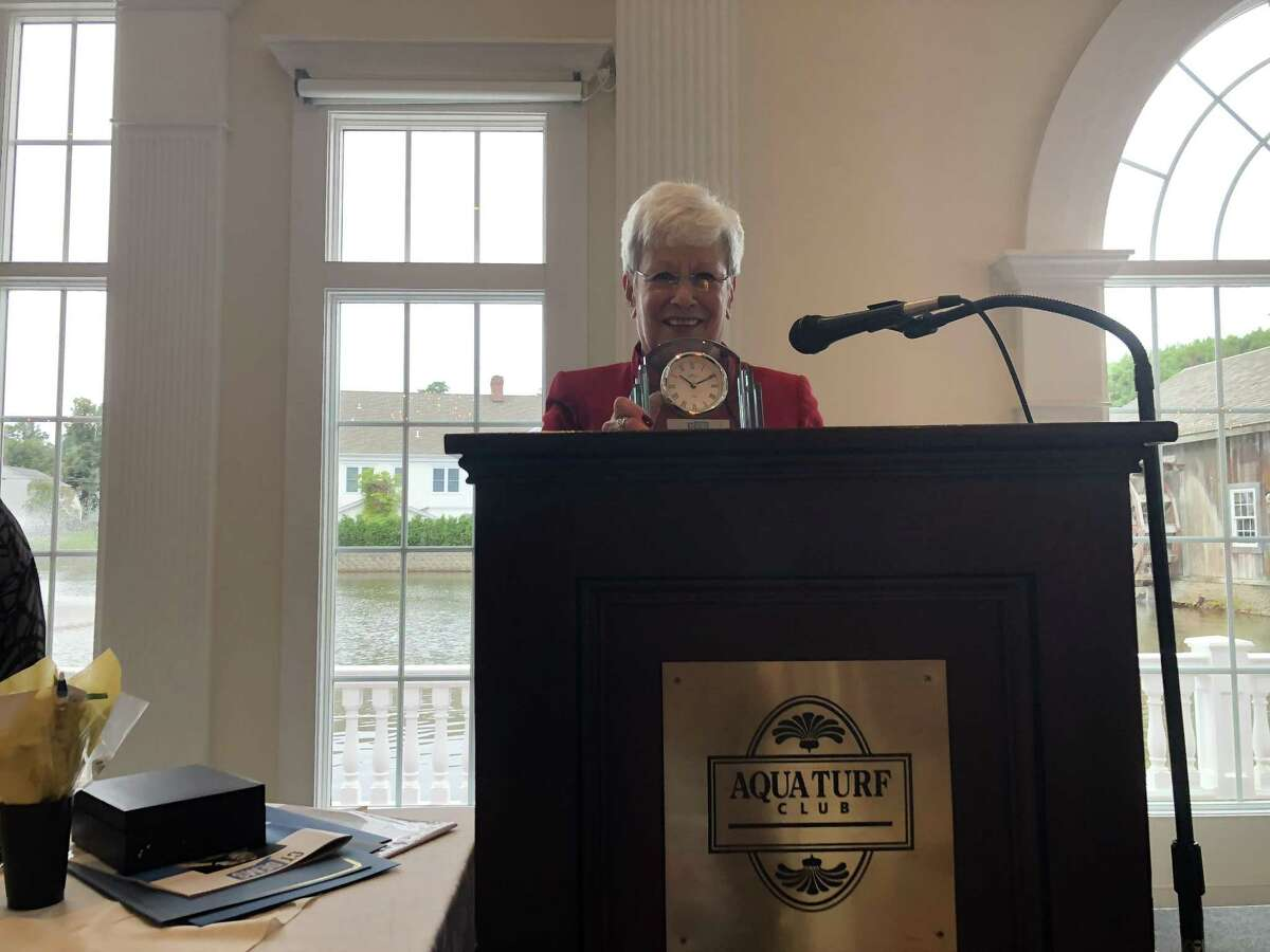 Lieutenant Gov. Nancy Wyman speaks at the state Democratic Party's women's leadership brunch Sept. 9, 2018.