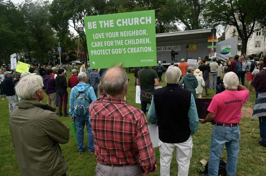 "New Haven, Connecticut -Saturday, September 9, 2018: The Peoples Climate Movement  ""Rise for Climate, Jobs & Justice, Rise Up Rally"" Sunday afternoon on the New Haven Green organized by the 350 CT, Sierra Club Connecticut Chapter, and the CT Puerto Rican Agenda. Photo: Peter Hvizdak, Hearst Connecticut Media / New Haven Register"