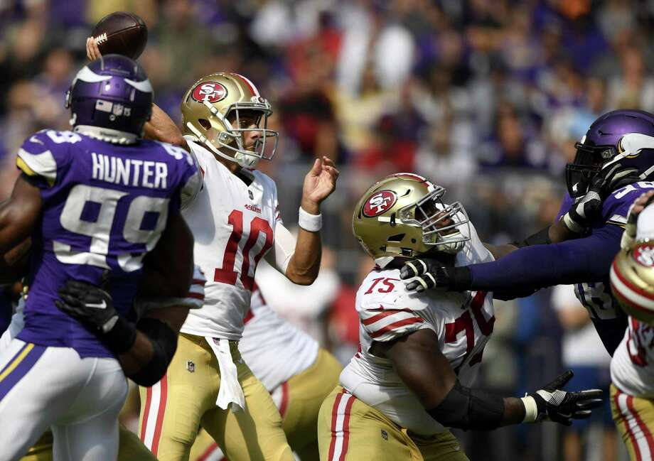 db56f432b 49ers  Jimmy Garoppolo dealt with adjustment before first NFL loss ...
