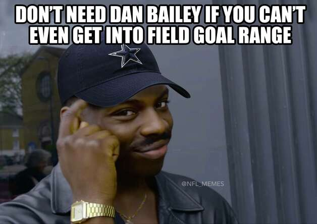 Dallas Cowboys Week 1: Panthers 16, Cowboys 8 After surprisingly releasing kicker Dan Bailey before the season, the Cowboys opened the season by getting shut out for three quarters. Photo: Facebook NFL Memes