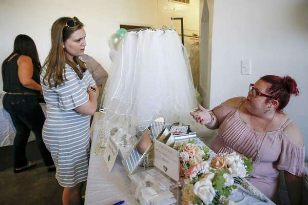Who Designed Megan S Wedding Dress.Brides To Be Say I Do To Money Saving Bridal Flea Market