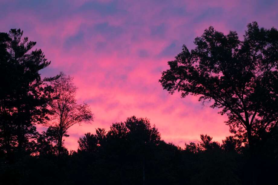 The sky turned a brilliant pink as the sun rose early Monday Sept. 10, 2018 in Malta, N.Y.   (Skip Dickstein/Times Union) Photo: SKIP DICKSTEIN, Albany Times Union