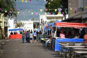Laredo citizens and tourists enjoy the annual Jamboozie with food, drinks, a variety of music performances and a parade in Downtown Laredo, Saturday, September 8, 2018.