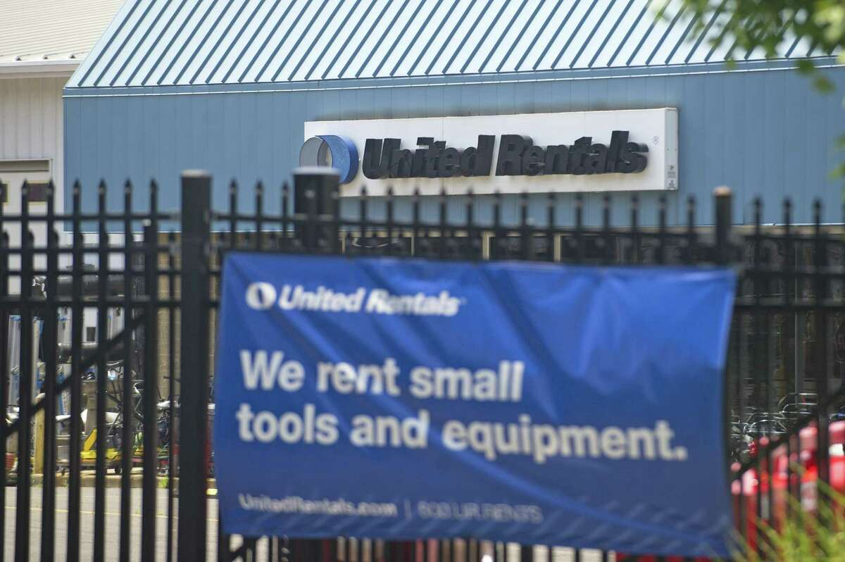 The United Rentals equipment rental depot, located on Selleck St., in Stamford, Conn. on Monday, July 16, 2018.