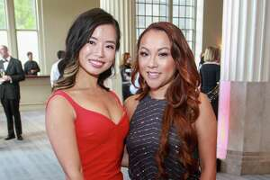 EMBARGOED FOR REPORTER UNTIL SEPT. 10  Tessa Zhong, left, and Quyen Ho at the Corinthian for the Houston Symphony Opening Night Concert & Gala.