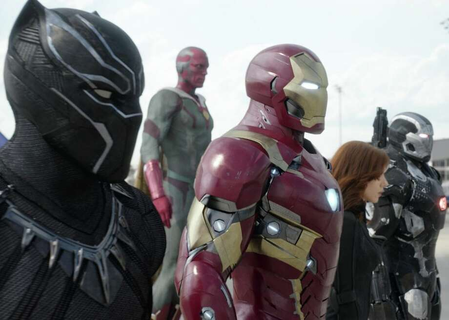 """Set one year after """"Age of Ultron,"""" """"Civil War"""" acts as a quasi-""""Avengers"""" film. In the movie, the Avengers split into two opposing factions: one led by Captain America and the other by Iron Man. """"Civil War,"""" the first film in Phase 3 of the MCU, also helped set up the franchise for the future by introducing Black Panther and Spider-Man, who both get standalone films later. Photo: CBSI/CNET"""