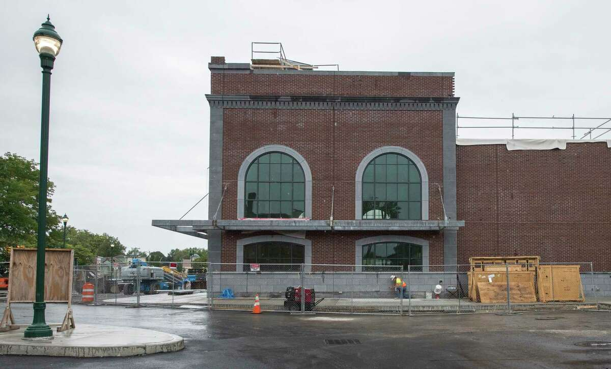 Exterior view of the new train station Monday Sept. 10, 2018 in Schenectady, N.Y. (Skip Dickstein/Times Union)
