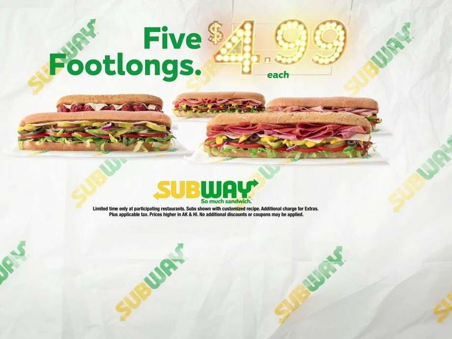 Subway could be getting rid of it's $5 footlong sandwiches Photo: Buisness Insider