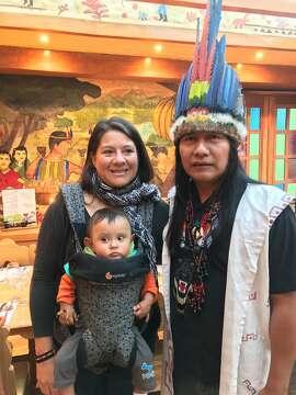 Manari Ushigua and Belen Paez The baby�s name is Tsamarow