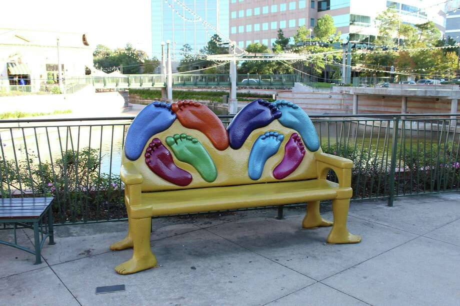 Four new art benches will grace The Woodlands this fall, with the latest slate of winning benches being unveiled by officials with The Woodlands Arts Council in early July. The four new benches are the first additions to the elaborate collection of public art since fall of 2018 when six new benches were installed. The Art Bench Project by The Woodlands Arts Council currently consists of 20 benches lining the scenic Waterway from Woodloch Forest Drive to the Riva Row Boat House. Photo: Patricia Dillon