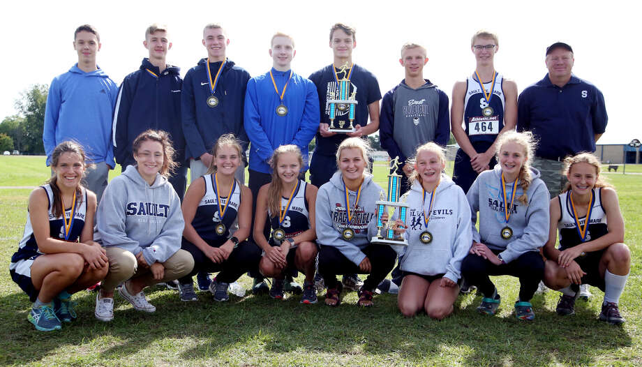 The Sault Ste. Marie cross country teams had a successful trip to the Upper Thumb, as the girls placed first at the Hatchet Invitational and the boys were runner-up. The Blue Devils made their first appearance in Bad Axe in five years, as part of their Lower Peninsula rotation. (Paul P. Adams/Huron Daily Tribune)
