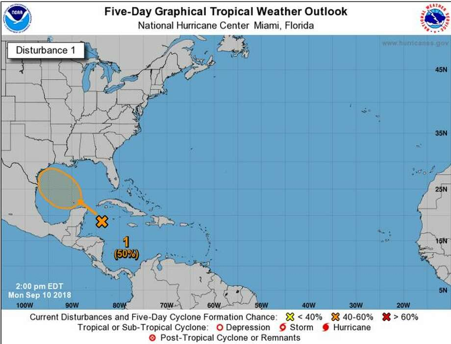 The National Weather Service is monitoring a weather system in the Gulf of Mexico that could impact Texas. Photo: National Weather Service