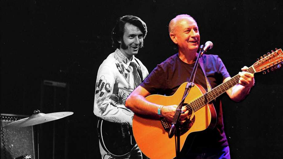 Mike Nesmith, seen here in 1970 and today, will perform with his group, The First National Band, at The Ridgefield Playhouse on Sept. 23. Photo: Nurit Wilde / Mary Lou Saxon / Contributed Photo