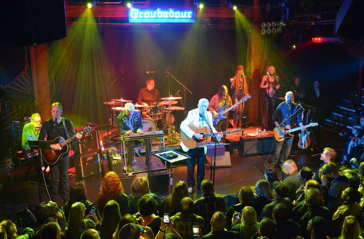 Mike Nesmith and his group, The First National Band, seen here at The Troubadour, will perform at The Ridgefield Playhouse on Sept. 23.