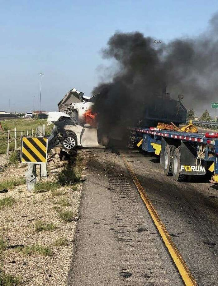 A wrongful death lawsuit has been filed by the families of two men killed in the July 18 fiery crash on Interstate-20 in Ector County, Texas. The families of Kewalkumar Vyas and Ivan Dominguez-Jaimes filed the lawsuit against Weatherford US, LP and its driver, Samie Lee Whittington. Photo: Glasheen, Valles & Inderman, LLP