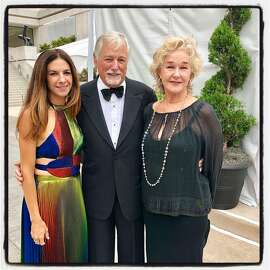 Sabrina Buell (left) with her dad Mark Buell and his wife, Susie Tompkins Buell at the SF Symphony Gala. Sept. 5, 2018.
