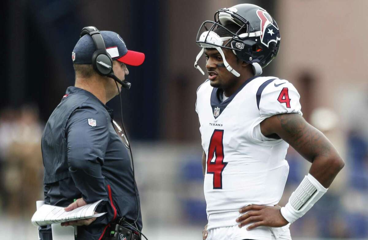 PHOTOS: A look at Lynn Redden and his racist Facebook post Texans coach Bill O'Brien talks to quarterback Deshaun Watson (4) during a first-quarter timeout in the 2018 season opener at New England.
