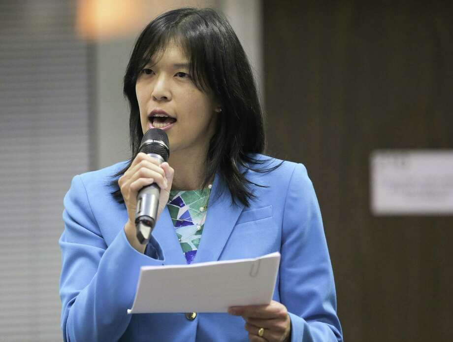 In this August 2017 file photo, Houston ISD Trustee Anne Sung addresses attendees during a forum in Houston. Sung chaired the district's Special Education Ad-Hoc Committee. ( Elizabeth Conley / Houston Chronicle ) Photo: Elizabeth Conley, Staff / Houston Chronicle / © 2017 Houston Chronicle
