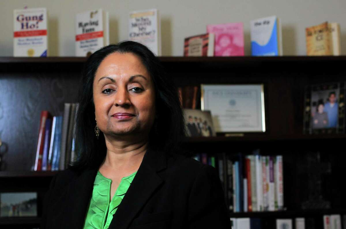 In this December 2012 file photo, former Houston ISD special education director Sowmya Kumar is photographed in her office. ( Karen Warren / Houston Chronicle )