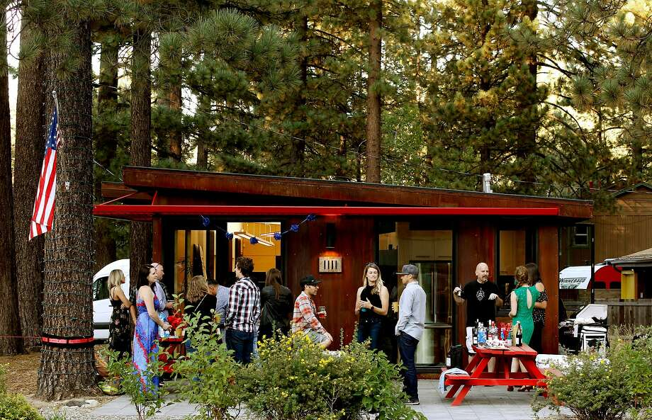 After work barbecues are common at the headquarters of Novus Select on Ski Run Blvd in South Lake Tahoe. Photo: Michael Macor / Special To The Chroicle