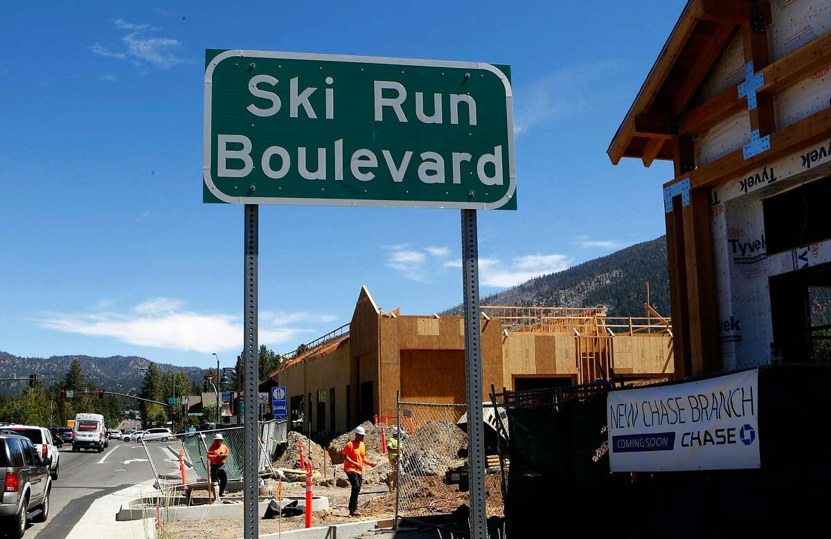 Major retail construction is seen at the corner of Lake Tahoe Blvd. and Ski Run Blvd. on Thurs. August 30, 2018 in South Lake Tahoe, California