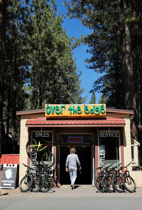 """The """"Over the Edge' bikes and coffee shop on the corner of Ski Run Blvd. and Tamarack Ave. in South Lake Tahoe. Photo: Michael Macor / Special To The Chroicle"""