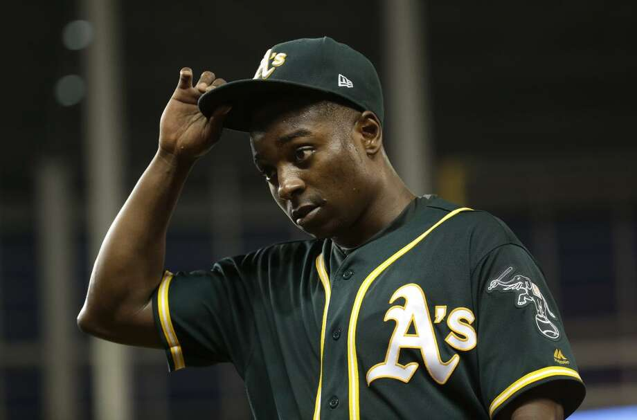 When pitcher Jharel Cotton was hurt in spring training, an injury that led to Tommy John surgery, it started a trend that has plagued the A's all season. Photo: Lynne Sladky / Associated Press 2017 / Copyright 2017 The Associated Press. All rights reserved.