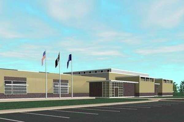 Midland County Jail exterior sketch.