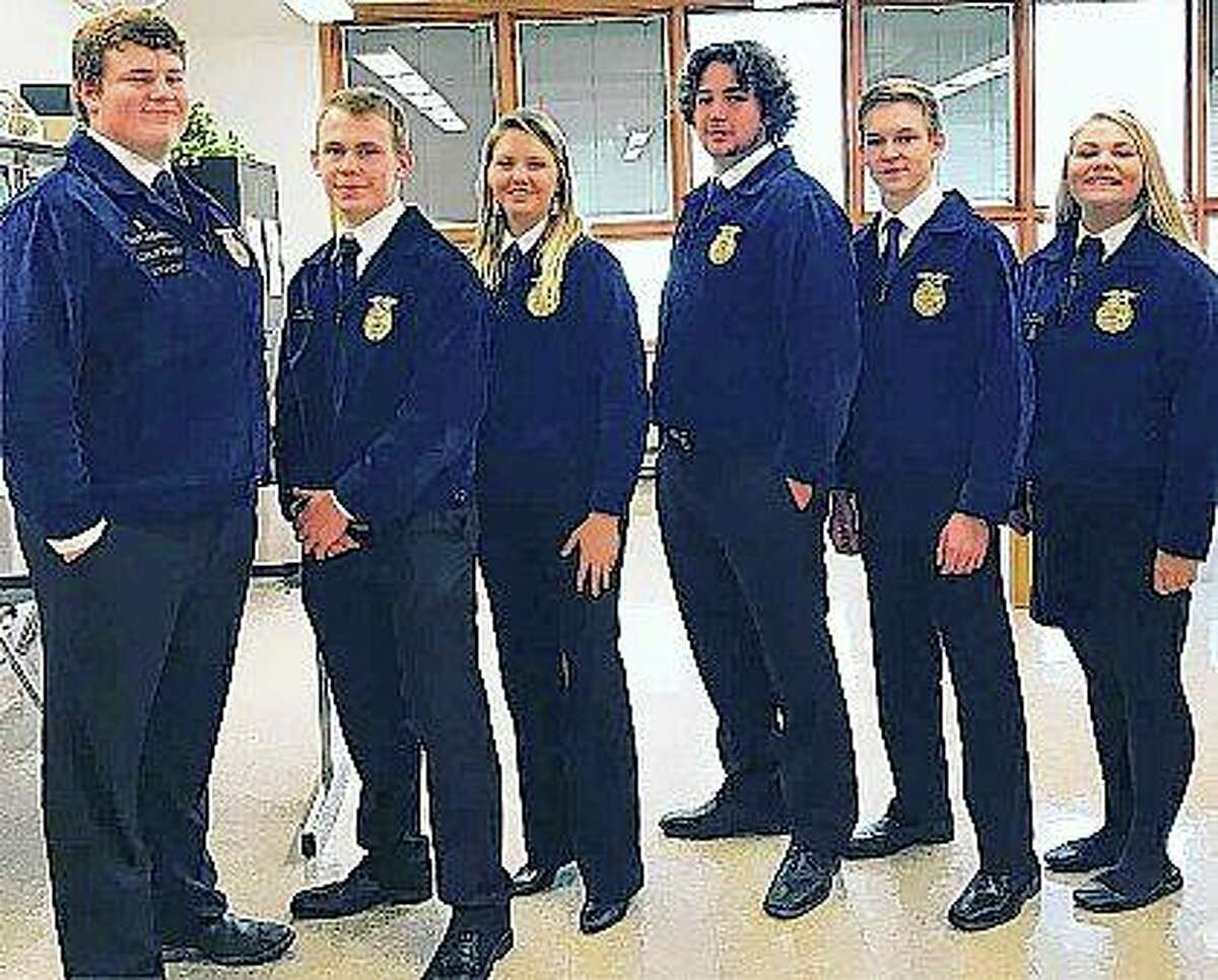 Section officers from FFA groups in the area attended the annual Section Teams Activities and Responsibilities conference at John Wood Community College.