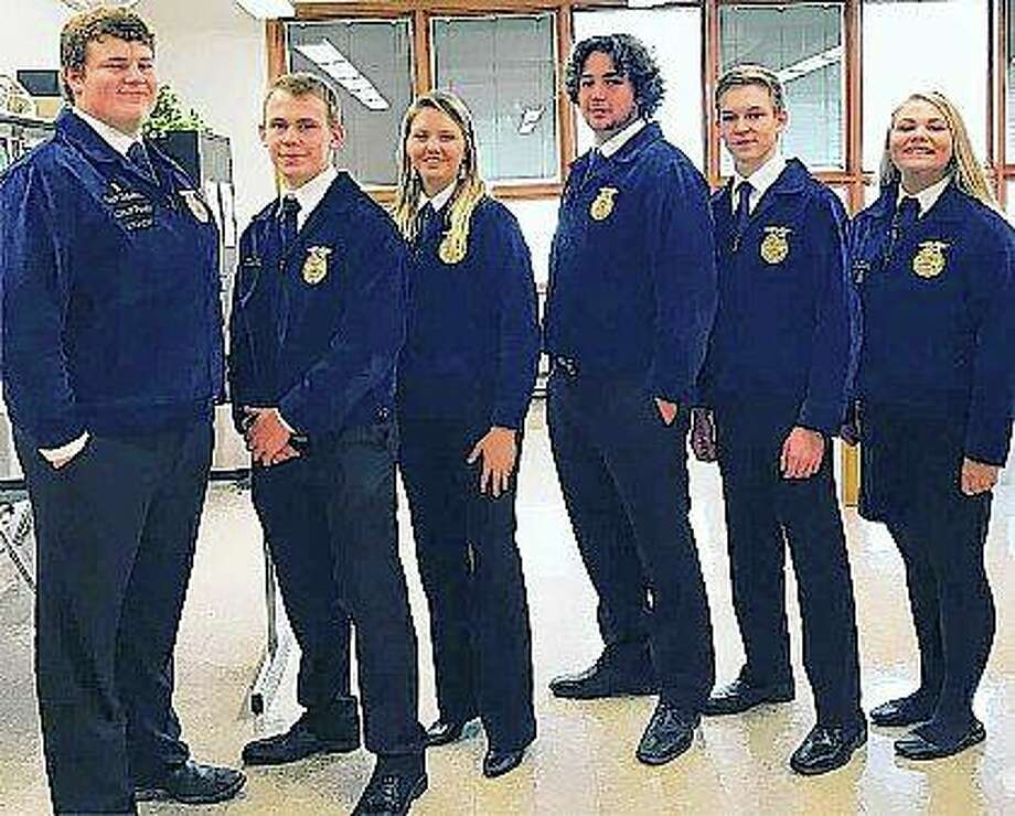 Section officers from FFA groups in the area attended the annual Section Teams Activities and Responsibilities conference at John Wood Community College. Photo: Photo Provided