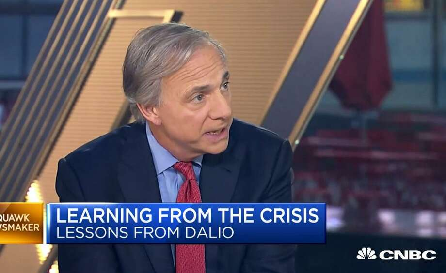 "Bridgewater Associates founder Ray Dalio of Greenwich, Conn., in a Sept. 11, 2018 appearance on CNBC's ""Squawk Box"" program. (Screenshot via CNBC)"