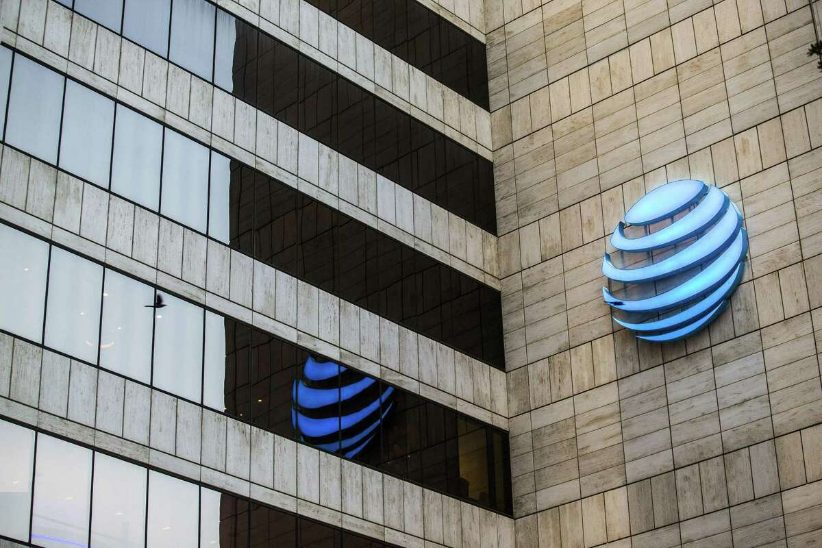 The AT&T headquarters at Whitacre Tower in Dallas on July 12, 2018.