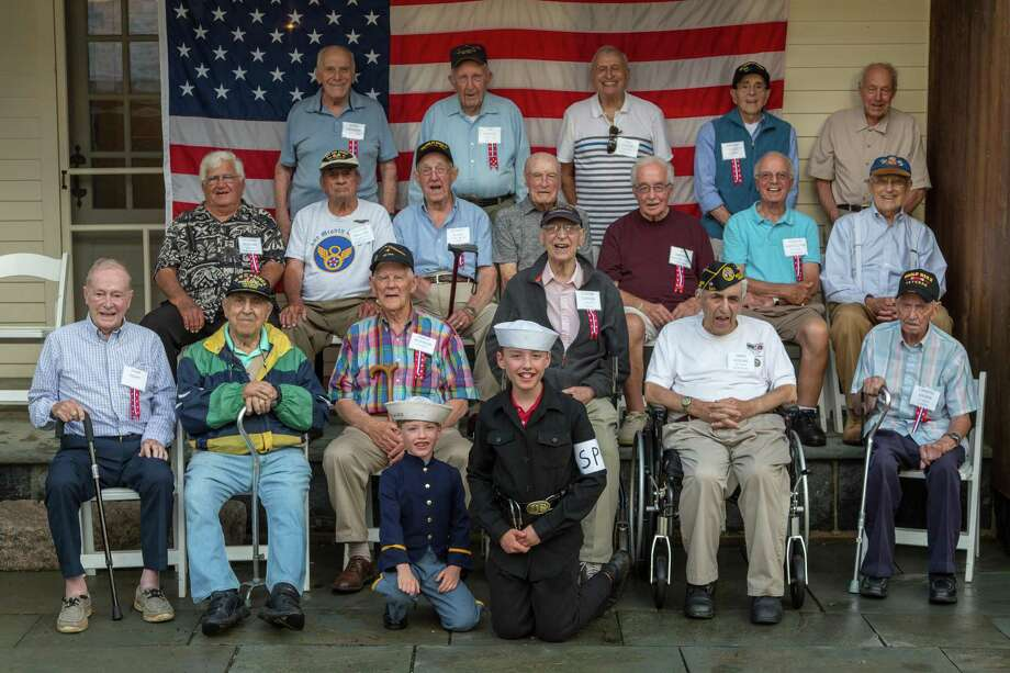 World War II veterans were honored for their service to the country Aug. 18 at Highveld Farm on School House Lane, the home of Middle Haddam couple Margaret McCutcheon Faber and Pierre Faber. Photo: Contributed Photo
