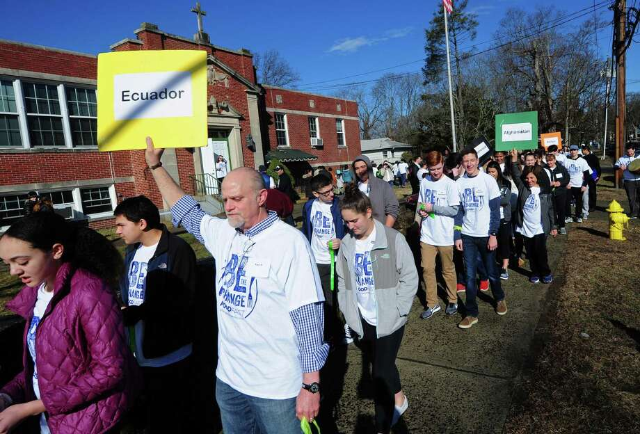 The St. Philip Church holds their annual march to raise awareness of world hunger during the Be The Change Catholic Relief Services Food Fast Intitiative Saturday, February 24, 2018, in Norwalk, Conn. The event marks a departure from the World Vision 30 Hour Famine the church has held for 15 years. Photo: Erik Trautmann / Hearst Connecticut Media File / Norwalk Hour